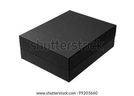 Black box isolated on white - #2 - stock photo