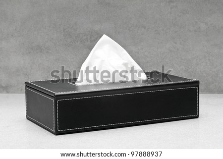 Black box of tissue - stock photo