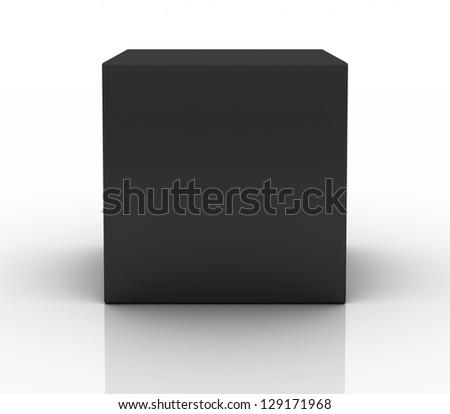 black box on white background - stock photo