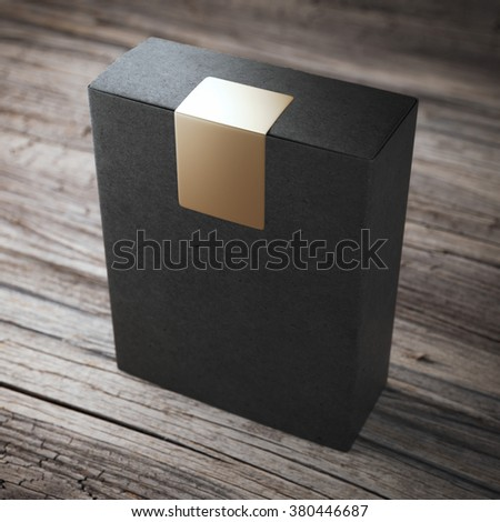 Black box with sticker
