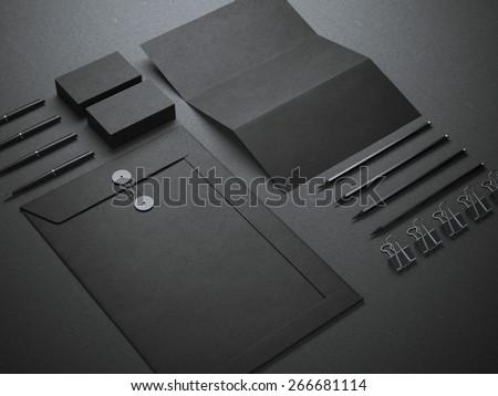 Black branding mockup - stock photo