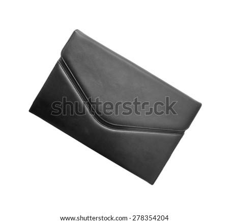 black briefcase - stock photo