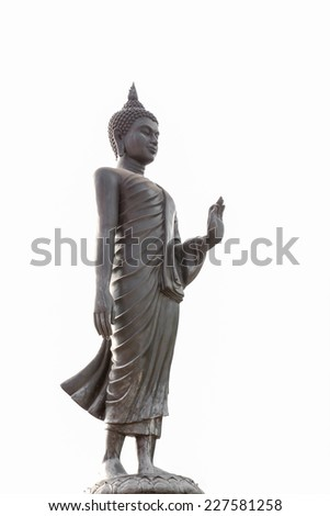black  Buddha.Buddha on a white background. - stock photo