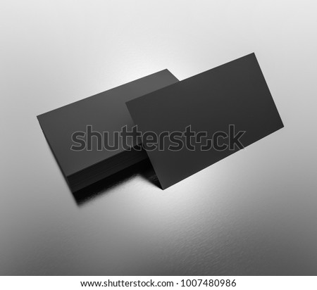 Black business cards blank mockup template stock illustration black business cards blank mockup template 3d rendering reheart Image collections