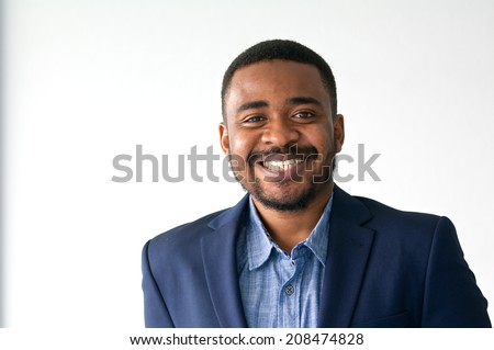 black business man with smile 03 - stock photo