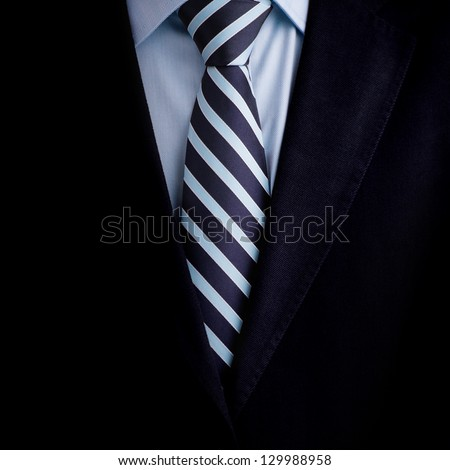 Black business suit with a tie background - stock photo
