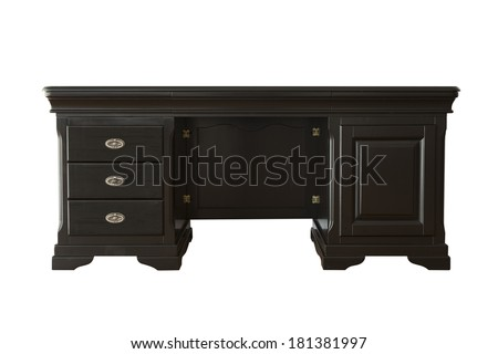 Black cabinet isolated on white
