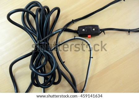 black cable wire binding together