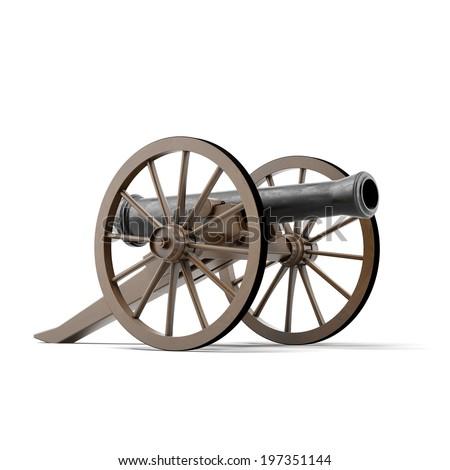 black cannon  - stock photo