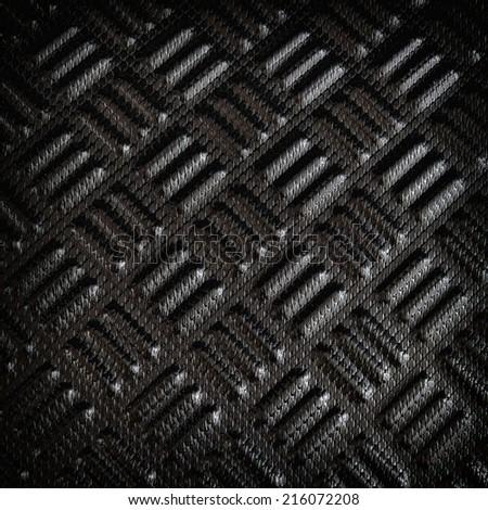 Black carbon Kevlar texture background - stock photo