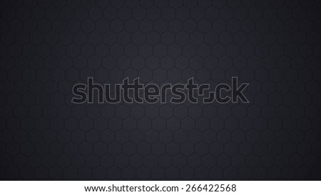 Black carbon seamless pattern with hexagons as textured abstract background - stock photo