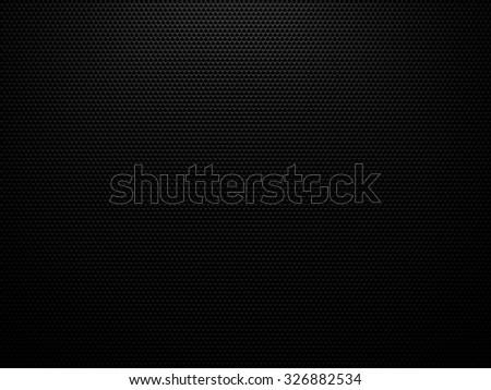 Black carbon structure background - 3D hexagon geometric structure pattern - stock photo
