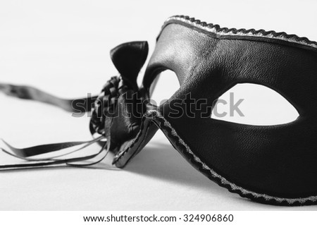 Black carnival mask  - stock photo