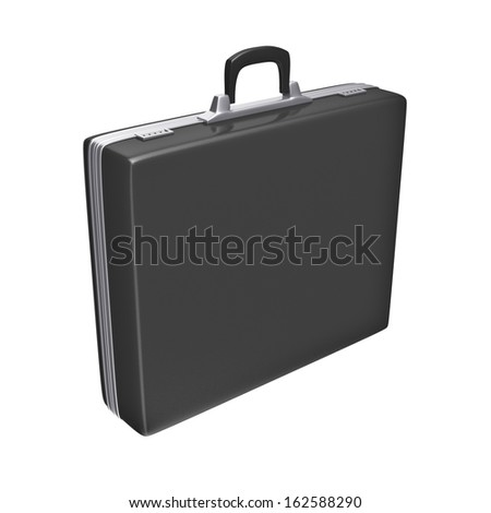 Black case - isolated on white background. 3d rendering