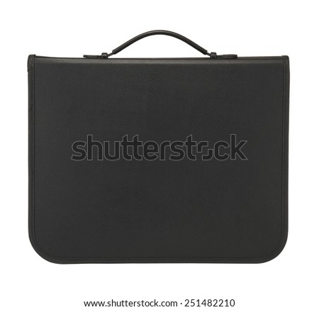black  case on white background. - stock photo
