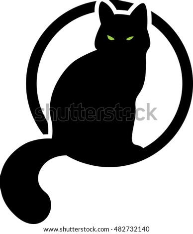 black cat in the cyrcle