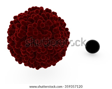 black cell excluded - stock photo