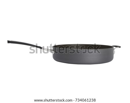 black ceramic frying pan