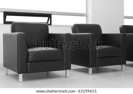 Black chair. - stock photo