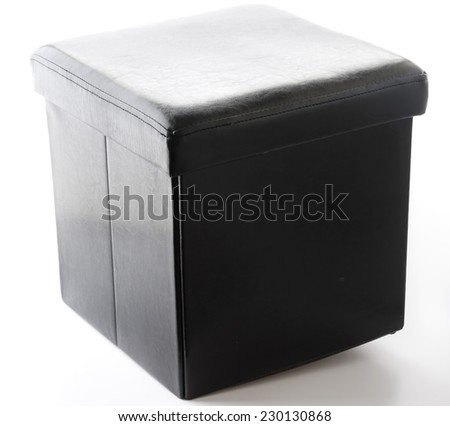 black chair box design for putting somethings