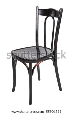 Black chair, isolated on a white background - stock photo