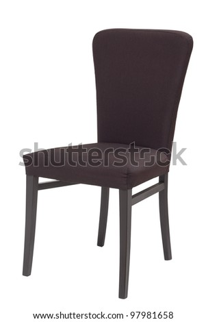 black chair isolated on white - stock photo