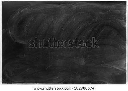 black chalkboard background - stock photo