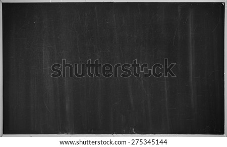 black chalkboard background - stock photo