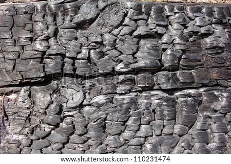 Black charcoal texture - stock photo