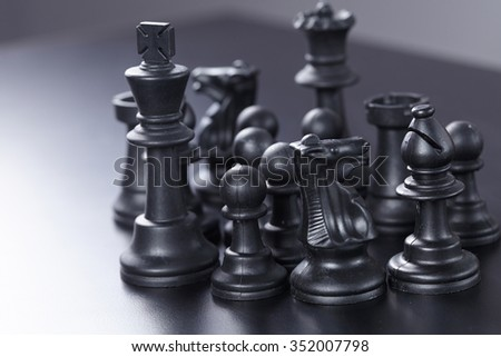 black chess - stock photo