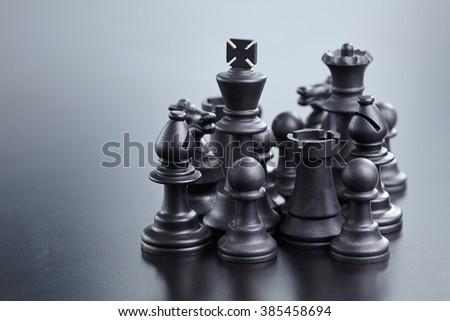 black chess - stock photo