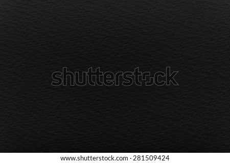 black  classic watercolor paper, texture - stock photo
