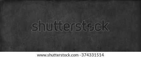 Black Classroom Blackboard Background School Chalkboard Vintage Texture Long Format Banner - stock photo