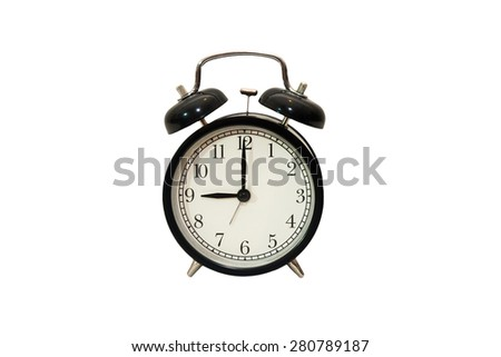 Black clock isolated on white background. This have clipping path.