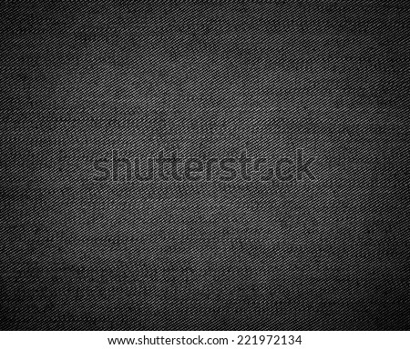 Black Cloth Texture - stock photo