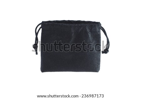 Black clothing bag isolated on white