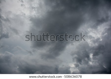 black cloud on sky