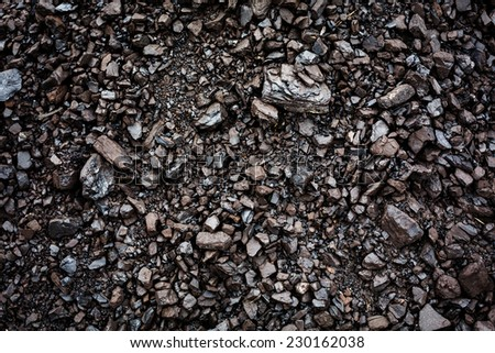 Black coal textured background. Mining concept. - stock photo