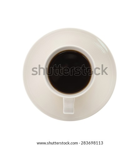 Black coffee cup isolated on white background