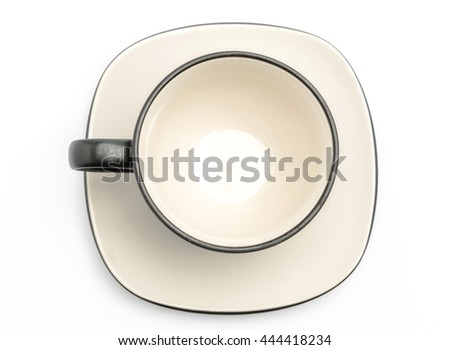 Black coffee cup on a white background