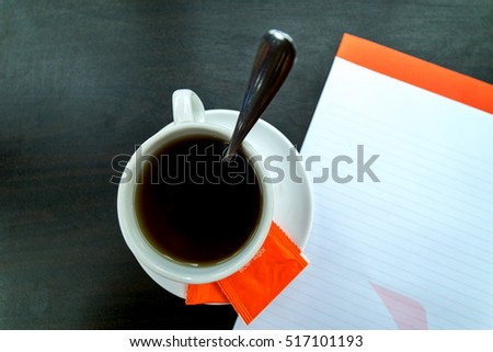 Black coffee during meeting session