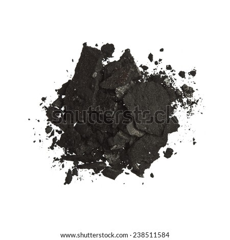Black Color Eyeshadow - stock photo
