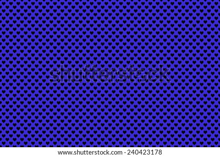 Black Colored Heart Shape with blue background - stock photo
