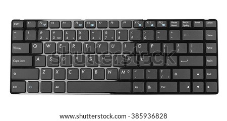 black computer keyboard, black slim buttons