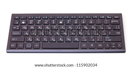 Black computer keyboard isolated on a white background - stock photo
