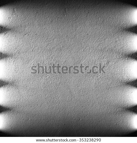 black concrete wall with lighting background - stock photo