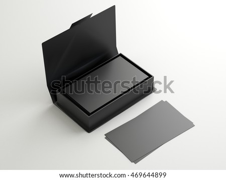black contact business cards open cardboard 469644899 shutterstock. Black Bedroom Furniture Sets. Home Design Ideas