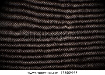 Black cord closeup for background or texture - stock photo
