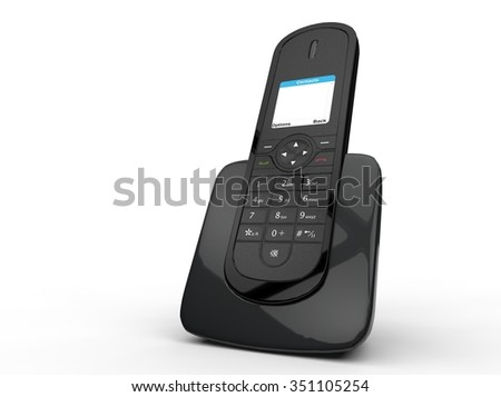 Black Cordless Telephone