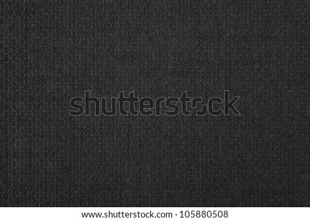 black cotton background, black and white canvas texture - stock photo